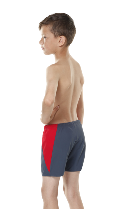 BOY'S Incontinence SHORTIES IN Slate/Red