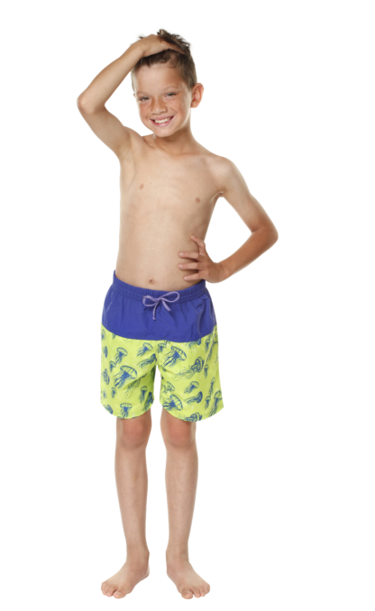 BOYS BOARD SHORTS IN JELLYFISH/BLUE